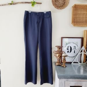 Banana Republic Martin Fit Wool Trousers Navy 4